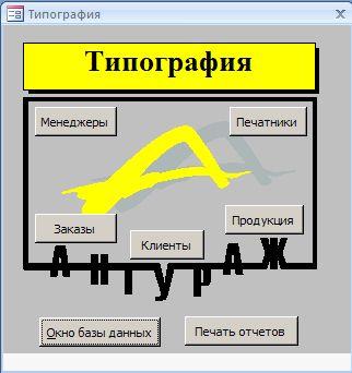 Курсовая Типография База данных access Скачать Курсовая Типография База данных access