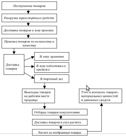 Структура торгового предприятия схема на примере 3